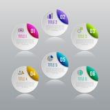 Concetto di affari di Infographic con 6 opzioni, parti, punti Fotografia Stock Libera da Diritti