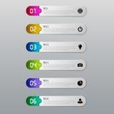 Concetto di affari di Infographic con 6 opzioni, parti, punti Immagine Stock Libera da Diritti