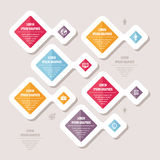 Concetto di affari di Infographic - schema di vettore con le icone Illustrazione astratta Immagine Stock