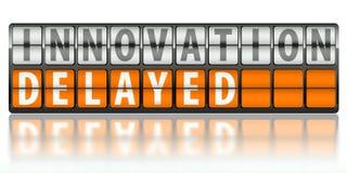 Concetto di affari di innovazione, in ritardo Fotografia Stock Libera da Diritti