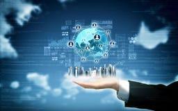Concetto 01 di affari di Internet Immagini Stock