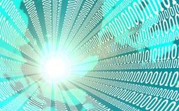Concetto di affari, di Internet e di tecnologia - vicino su del flusso di dati illustrazione 3D Immagine Stock Libera da Diritti