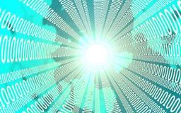 Concetto di affari, di Internet e di tecnologia - vicino su del flusso di dati illustrazione 3D Fotografia Stock