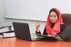 Concetto di affari di Muslimah Fotografia Stock Libera da Diritti