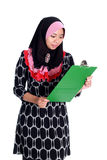 Concetto di affari di Muslimah Immagine Stock