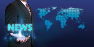 Concetto di affari di notizie Immagine Stock Libera da Diritti