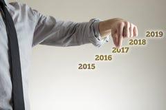 Concetto di affari di 2017 nuovi anni Fotografia Stock Libera da Diritti