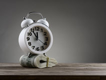 Concetto di affari di soldi di tempo Fotografia Stock Libera da Diritti
