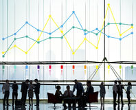 Concetto di affari di statistiche di contabilità rapporto di finanza Fotografie Stock Libere da Diritti