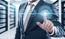 Concetto di affari di tecnologia di Internet di dati di stoccaggio di sostegno Immagine Stock Libera da Diritti