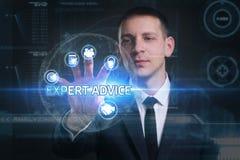 Concetto di affari, di tecnologia, di Internet e della rete Giovane busine Fotografia Stock
