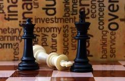 Concetto di affari e di scacchi Fotografia Stock Libera da Diritti