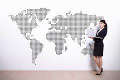 Concetto di affari globali Fotografia Stock