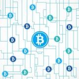 Concetto di affari globali di Bitcoin illustrazione vettoriale