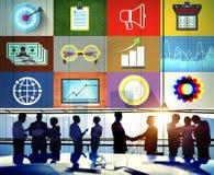 Concetto di affari globali di investimento di contabilità di finanza immagini stock