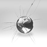Concetto di affari globali. Versione in bianco e nero illustrazione vettoriale