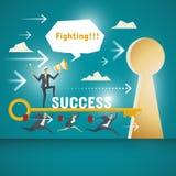 Concetto di affari, gruppo dei professionisti di affari Immagine Stock Libera da Diritti