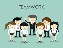 Concetto di affari, gruppo di gente di affari, concetto di lavoro di squadra Immagini Stock