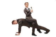 Concetto di affari I colleghi lavora nelle paia Immagine Stock Libera da Diritti