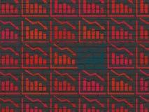 Concetto di affari: icona del grafico di crescita sulla parete Fotografia Stock Libera da Diritti