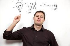 Concetto di affari: Idee e lavoro di squadra immagini stock