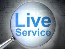Concetto di affari: Live Service con vetro ottico Fotografie Stock Libere da Diritti