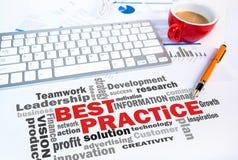 Concetto di affari: nuvola di parola di best practice Immagini Stock Libere da Diritti