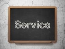 Concetto di affari: Servizio del fondo della lavagna Immagini Stock