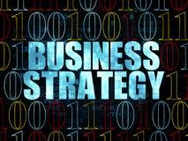 Concetto di affari: Strategia aziendale su Digital Fotografia Stock Libera da Diritti
