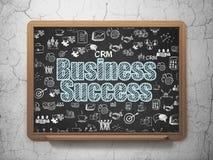 Concetto di affari: Successo di affari sul fondo del consiglio scolastico Immagine Stock
