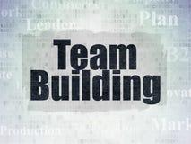 Concetto di affari: Team Building sul fondo della carta di dati di Digital fotografia stock libera da diritti