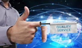 Concetto di affari, di tecnologia, di Internet e della rete Giovane entrep Immagini Stock