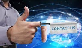 Concetto di affari, di tecnologia, di Internet e della rete Giovane entrep Fotografie Stock