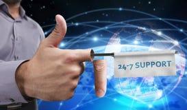 Concetto di affari, di tecnologia, di Internet e della rete Giovani imprenditori Fotografia Stock