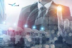 Concetto di affari di trasporto di logistica fotografia stock