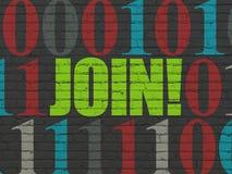 Concetto di affari: Unire! sul fondo della parete illustrazione vettoriale