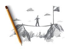 Concetto di affari Vettore isolato disegnato a mano Immagini Stock Libere da Diritti