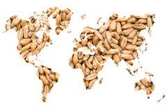 Concetto di agricoltura della mappa di mondo Fotografia Stock Libera da Diritti