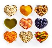 Concetto di alimento sano per il cuore Immagini Stock Libere da Diritti