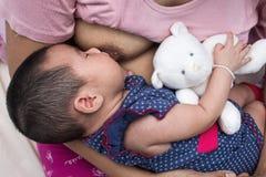 Concetto di allattamento al seno Fotografia Stock