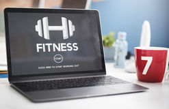 Concetto di allenamento di addestramento di forza fisica di salute di forma fisica Fotografie Stock Libere da Diritti