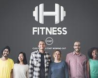Concetto di allenamento di addestramento di forza fisica di salute di forma fisica Fotografie Stock