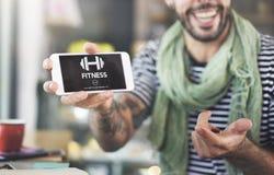 Concetto di allenamento di addestramento di forza fisica di salute di forma fisica Fotografia Stock Libera da Diritti
