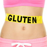 Concetto di allergia, di salute e di malattia celiaca del glutine Fotografia Stock Libera da Diritti