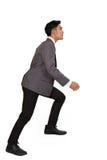 Concetto di ambizioni con le scale rampicanti dell'uomo d'affari Fotografie Stock Libere da Diritti