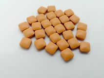 Concetto di aMedication della famotidina La famotidina è usata per trattare e immagine stock