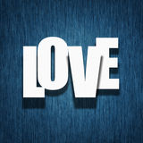 Concetto di amore - lettere di carta sul tessuto Fotografia Stock Libera da Diritti