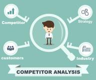 Concetto di analisi del concorrente Immagine Stock