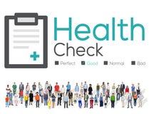Concetto di analisi di condizione medica di diagnosi del controllo sanitario Immagine Stock Libera da Diritti