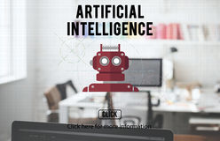 Concetto di Android di robotica di AI del cyborg del robot fotografia stock libera da diritti